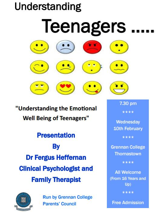 Emotional Well Being Of College >> Understanding The Emotional Wellbeing Of Teenagers Grennan College
