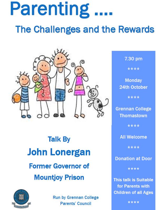 John Lonergan Talk – Parenting…the challenges & the rewards ...